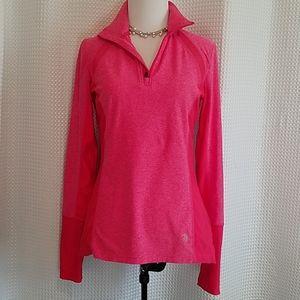 MPG salmon pink 3/4 zip warm up jacket small